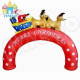 Christmas Inflatable Decoration Arch Santa Snowman Crutch Arch