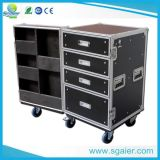 Полет Case Drawer с Table, Carrying Wheels