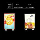 Frame plástico magnético do poster com base do ímã