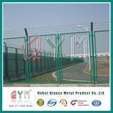 Оптовая дешевая загородка звена цепи безопасности 80X80mm авиапорта цены 6FT поли Coated