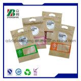 中国の製造業者はコーヒー茶包装のためのジップロック式のクラフト紙袋を立てる