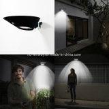Luz solar redonda negra impermeable de la pared con el sensor de movimiento