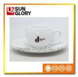 カスタムロゴは磁器のコーヒー茶陶磁器のカップ・アンド・ソーサーを増強する