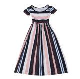 Form-Streifen faltete Mädchen-Kleid für das Kind-Kleiden