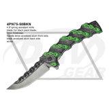 """4.8 """" 녹색 봄 강철 잎 (4PN75-50BKN)를 가진 보조 환상 칼"""
