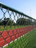 ISO9001中国PVC上塗を施してあるステンレス鋼の金網のチェーン・リンクの塀