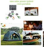 Piccola lampada solare portatile kit solari di illuminazione del comitato solare da 9 watt mini con il caricatore del USB