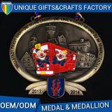 Medaglia di oro su ordinazione del medaglione di maratona del metallo 2017 più nuova 3D