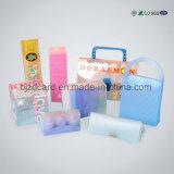 Caixa geada impressão do empacotamento plástico com furo de suspensão