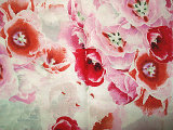 印刷のあや織りの絹ファブリック