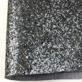 Smooth elegante Glitter Fabric Leather para Lady Shoes, Bags, papéis de parede e Upholstery