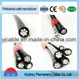 0.6/1 kilovolt de 2core de conducteur d'ABC isolé par PE/XLPE de câble aérien en aluminium de paquet