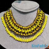 2014 MOQ bajo de la nueva llegada de cadena de acrílico de la joyería de moda collar de la declaración (EN0025B)