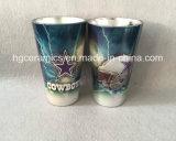 tasse blanche métallique en verre de sublimation de la couleur 16oz