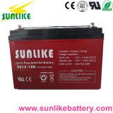 Batterij 12V100ah van het Gel van het onderhoud de Vrije Zonne voor de Projecten van Telecommunicatie