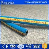 Boyau à haute pression tressé de rondelle en caoutchouc de fil d'acier