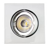 Di alluminio l'indicatore luminoso messo inclinazione del quadrato LED della pressofusione GU10 MR16 giù (LT1201)