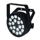 kan het UV LEIDENE 18X12W RGBWA Slanke PARI Licht met de Certificatie van Ce Powercon voor Disco, Club, Gebeurtenis, de Verlichting van de Kerk opvoeren