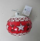 Bola de cristal colgante de la Navidad con la etiqueta