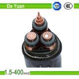 cable de transmisión aislado PVC del LV de la chaqueta de PVC 5core