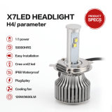 H4 120W 9600lm Auto super brillante LED Linterna