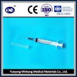 Medische Beschikbare Spuiten, met Naald (5ml), Misstap Luer, met Goedgekeurde Ce&ISO