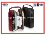 Contenitore di regalo di cuoio impaccante del vino di lusso di fabbricazione