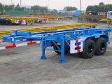 20feet twee Chassis van de Container van de As