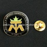 Emblema macio carimbado ferro do Pin do Lapel do emblema do esmalte com cola Epoxy