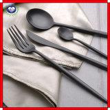 oro L lama e forcella occidentali di prima scelta del nero della maniglia della lama tagliente 18 - 10 e del cucchiaio della forcella degli articoli per la tavola dell'acciaio inossidabile