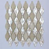 Mattonelle madreperlacee della parete del mosaico del marmo della miscela delle coperture di nuovo disegno 2017