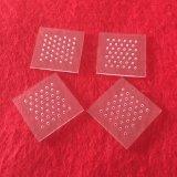 Placa de cristal cuarzo cuadrada con agujero