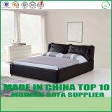 現代寝室の家具の実質の革ベッド