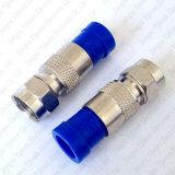 Type cable connecteur coaxial du compactage F de Rg59 RG6