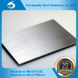 Feuille d'acier inoxydable de fini d'ASTM 201 Hl/No. 4 pour la décoration
