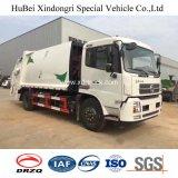 Dongfeng 12cbm 수용량 압축 쓰레기 트럭