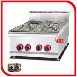 Cucina commerciale che cucina intervallo con quattro stufe e l'alto intervallo di gas efficiente dei Governi