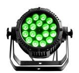 De Prijs van de Fabriek van Rasha IP65 Waterdicht voor 18*15W5in1 Rgbaw het LEIDENE Licht van het PARI voor de Verlichting van het Stadium