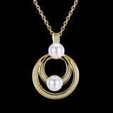 Het goud plateerde de Populaire Juwelen van de Halsband van de Vrouwen van het Ontwerp met Parel