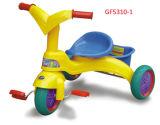 バスケット(GF5310-1)の置かれるPCS100%タケ寝具が付いている4人の子供の三輪車(GE-SB100003)