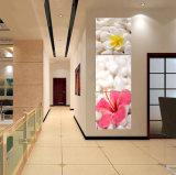 3 fiori della pittura a olio di arte della parete del comitato che verniciano la tela di canapa domestica della decorazione stampa le maschere per arte incorniciata salone Mc-263