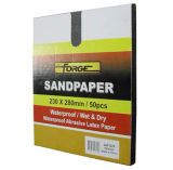 Dupla utilização 80 Grit de alumínio de óxido de areia papel papel abrasivo à prova d'água