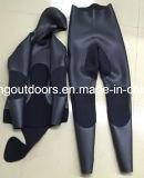 5mm Spearfishingのスムーズな皮および開いたセルウェットスーツ