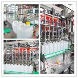 Разлитая по бутылкам пластмассой линия упаковки масла заполняя