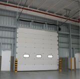 Ce keurde de Automatische Sectionele LuchtDeur Met afstandsbediening van de Garage van de Sandwich met Vensters en het Overgaan van Deur goed
