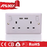Alta qualidade 220V USB Power Wall Socket UK