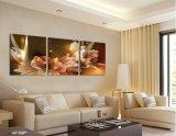 Богатство картины холстины и роскошные золотистые цветки декор дома изображения искусствоа 3 частей на картине Mc-185 холстины самомоднейшей