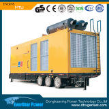 Малошумный молчком комплект генератора Mtu 1760kw 2200kVA тепловозный (16V4000G63)