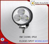 inundación de 9W 12V LED/lámpara del trabajo del punto LED para el carro 4X4