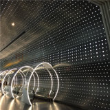 Panneaux en aluminium perforés de forme incurvée pour la décoration de mur intérieur